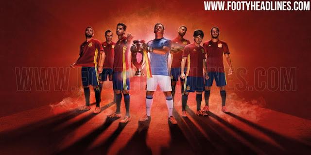 Uniforme da Espanha para a Euro 2016