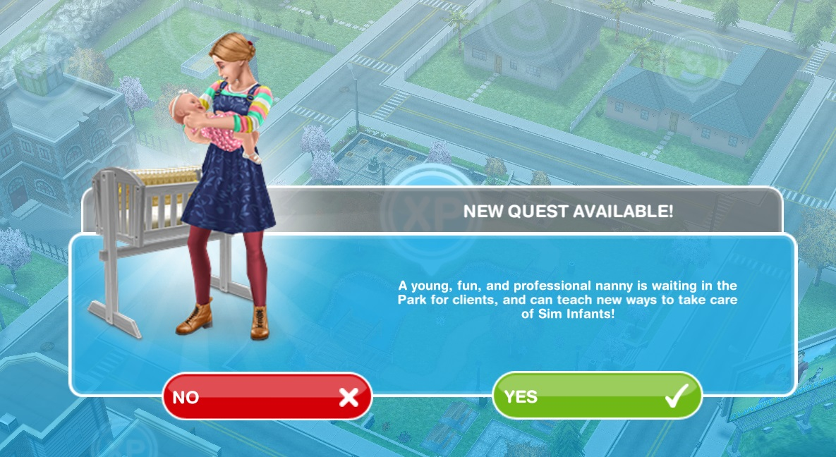 Tuesday  28 July 2015. Sims Freeplay Quests and Tips  Discovery Quest  Nanny Knows Best