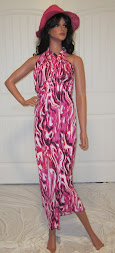Beach Sarong in Hot Pink Splash