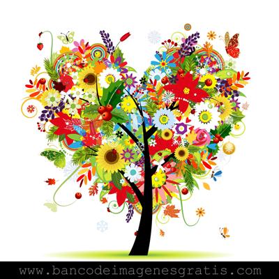 El árbol del amor y las cuatro estaciones - Ilustraciones