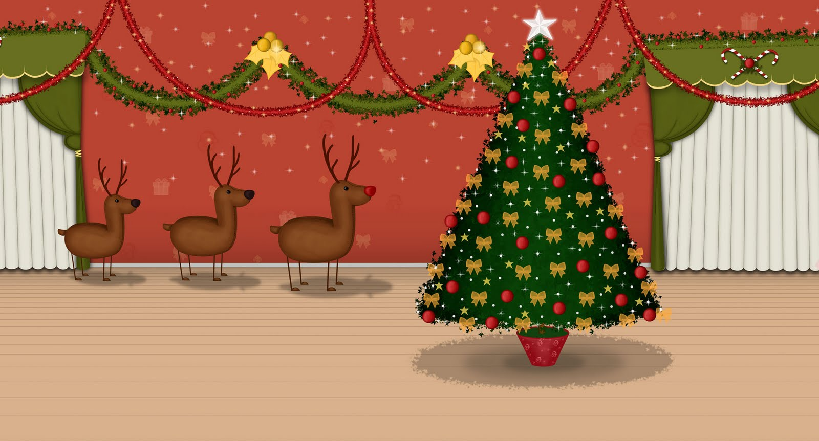 Interior Casa Boris en Navidad, Hostal Morrison