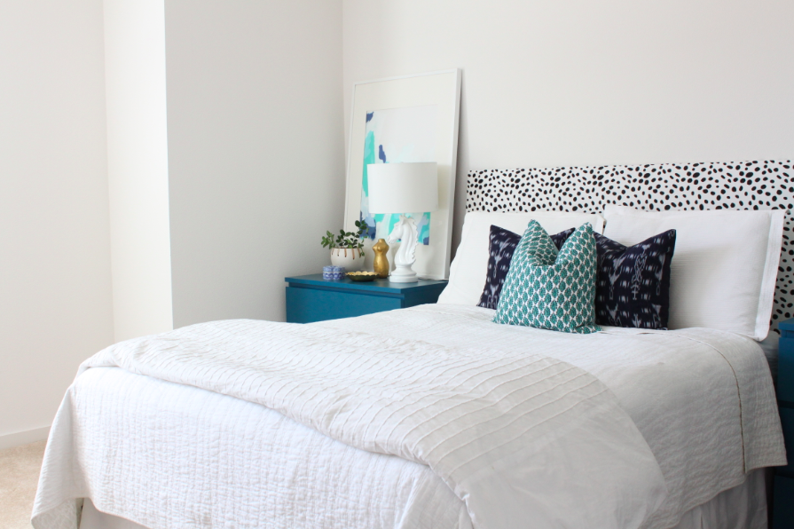 DIY Headboard Mini Master Bedroom Reveal