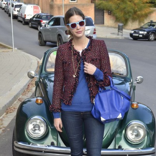 Maroon Luxe Tweed Coco Jacket