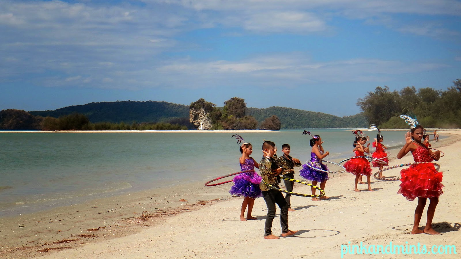 Kids in Krabi Beach