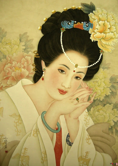 The 4 great  beauties of ancient China: the painting of Yang Yu-huan