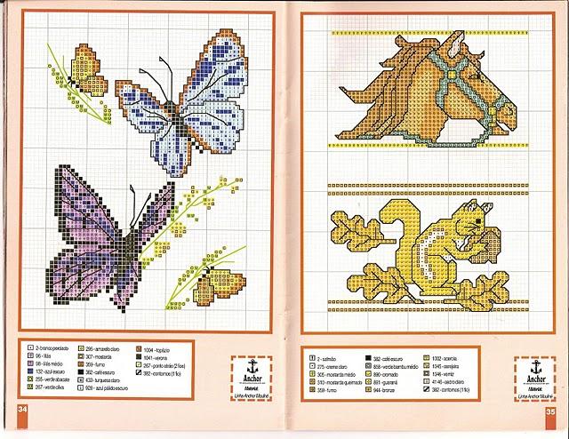 Mariposas en punto de cruz para imprimir - Imagui