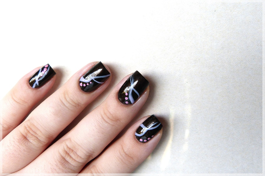 abstraktes Nailart