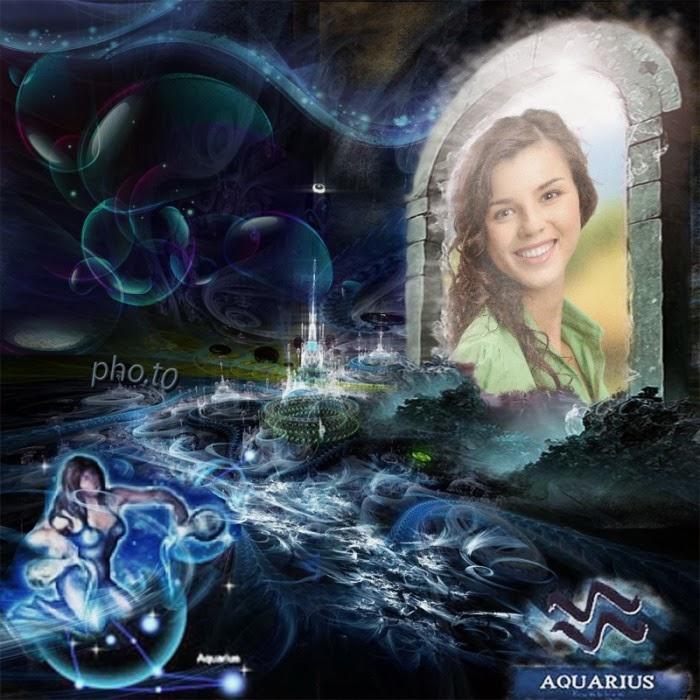 Aquarius Zodiac Signs Photo Frame Effect online free - FunnyPhotoBox ...