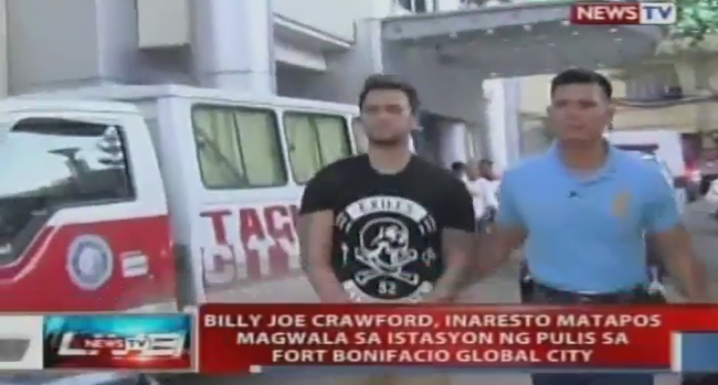 Billy Crawford Arrested and Now Detained at Fort Bonifacio Global City Police Station