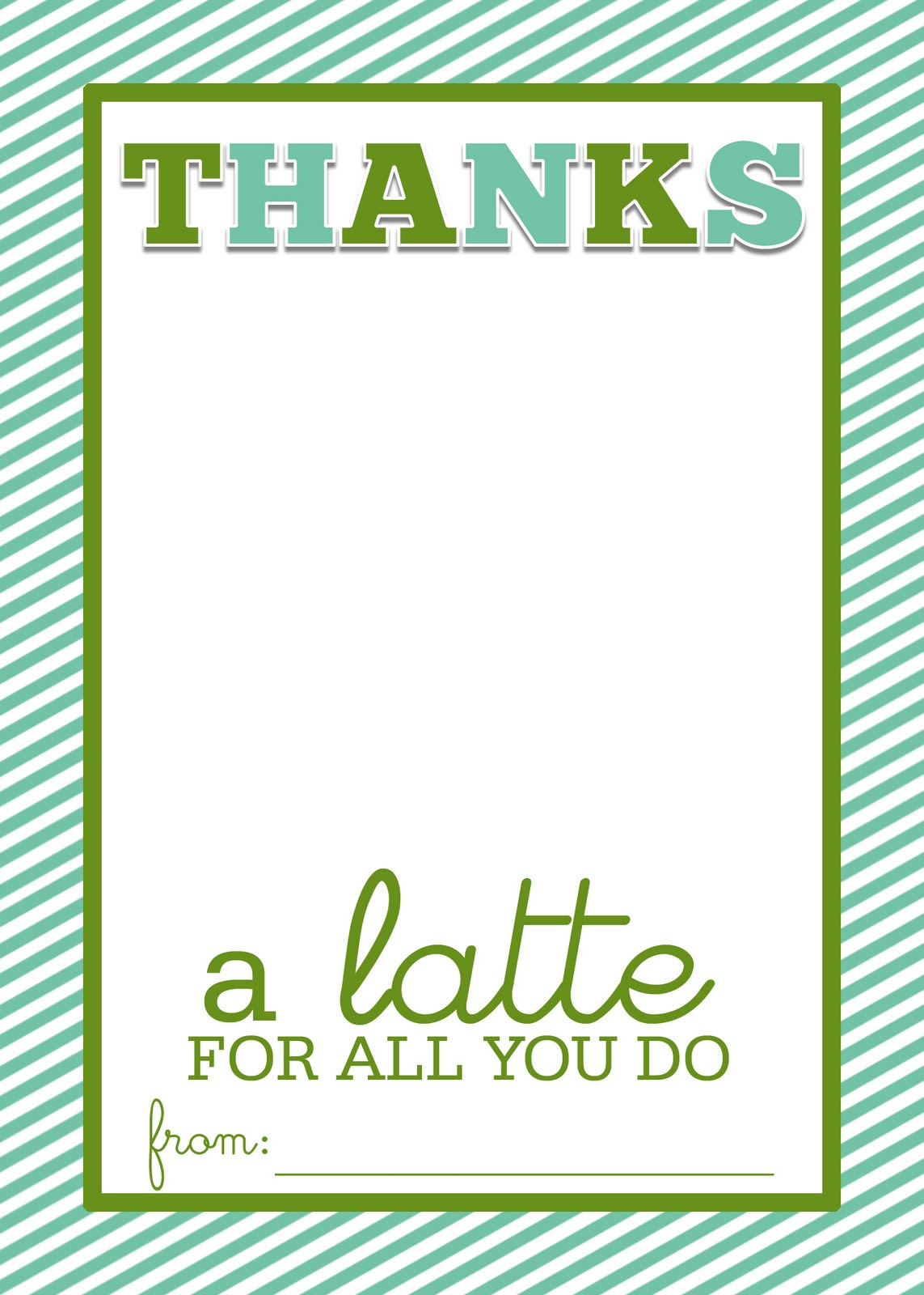 Slice of shepard s pie thanks a latte frugal thank you card