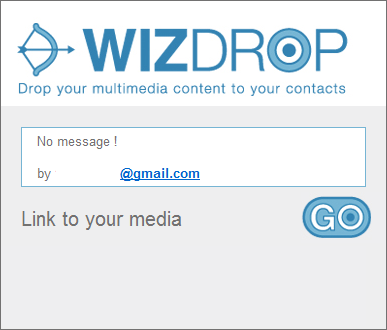 WizDrop receive Kirim File Media Besar untuk Setiap Alamat Email atau Telepon Seluler