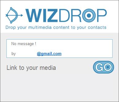 WizDrop receive Kirim File Media Besar untuk Setiap Alamat Email atau Telepon Seluler