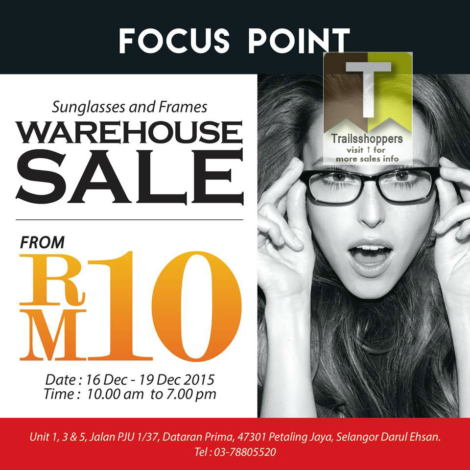 Focus Point Sunglasses & Frames Warehouse Sale