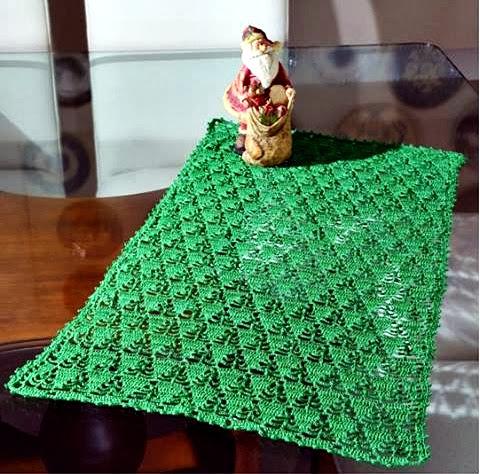 toalhas em croche natal em croche com receita