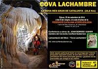 Presentació  i Llibre de la      Cova Lachambre