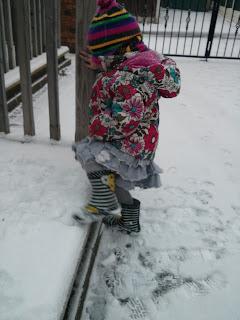 testing snow