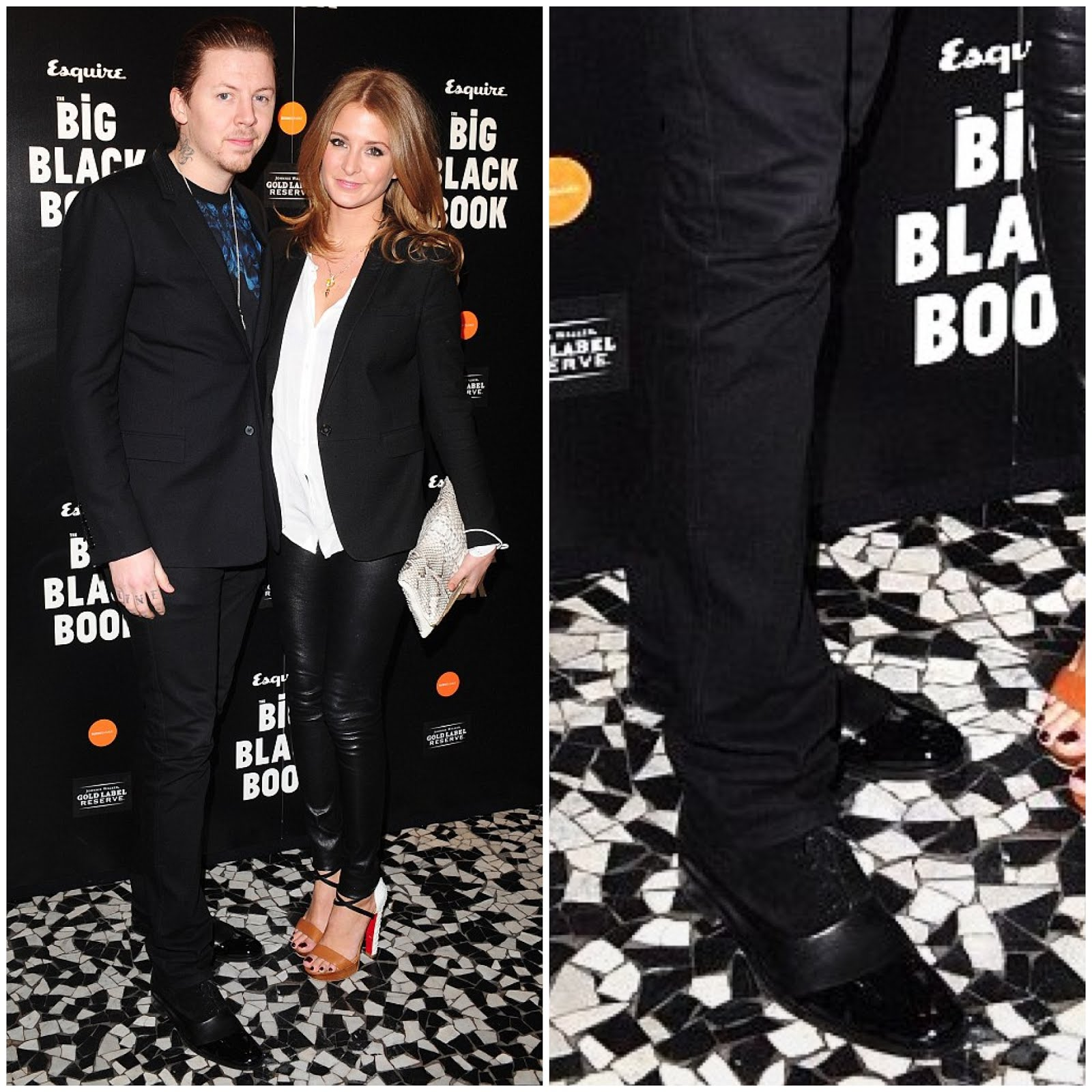 00O00 Menswear Blog Professor Green in Mr Hare Fitzgerald shoes - Esquire UK Big Black Book London launch at Sushi Samba March 2013