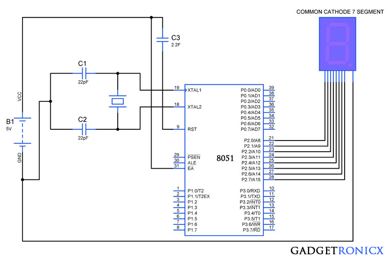 7-segment-display-interface-8051-microcontroller-common-cathode