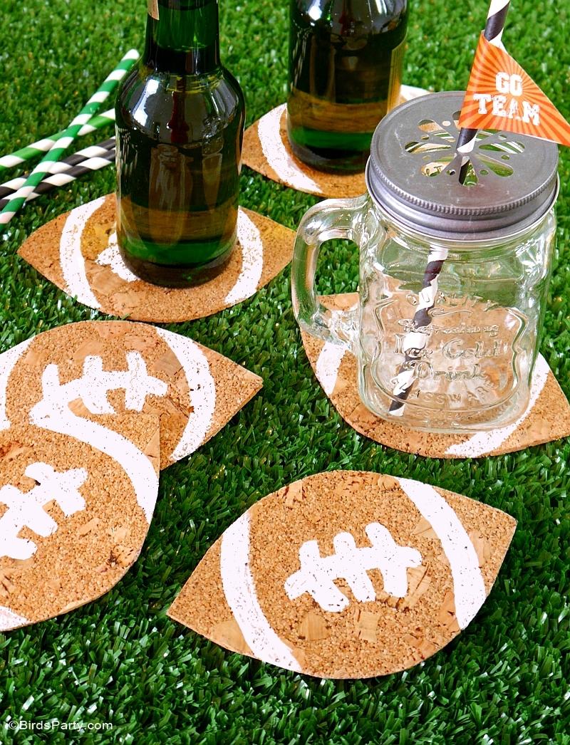 Fruity Beer Cocktail Recipe & DIY Football Coasters - BirdsParty.com
