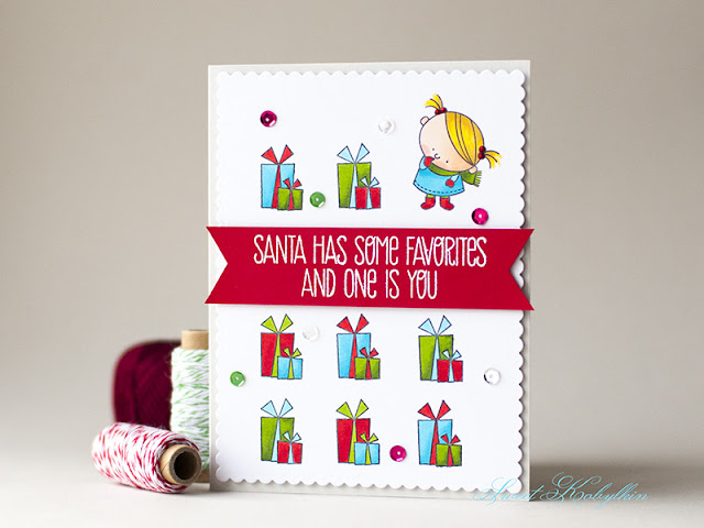 Christmas Card with Jingle All the Way from My Favorite Things by Sweet Kobylkin