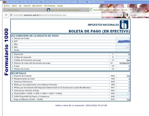Sistema da vinci impuestos bolivia