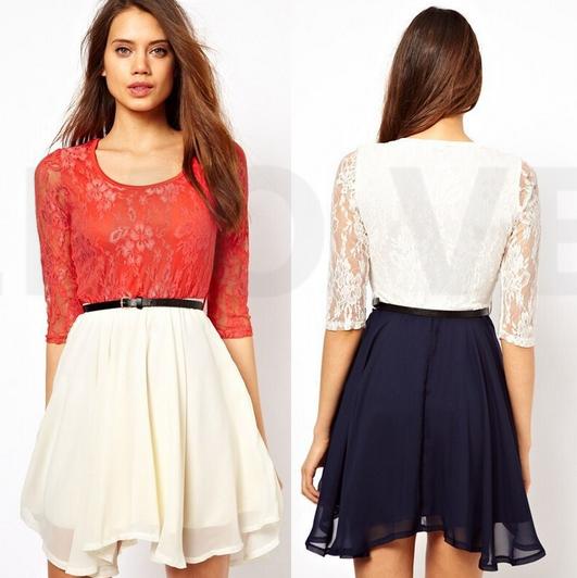 Elegant Beauty Online New 2015 Summer Women Dress Slash Neck White Strapless