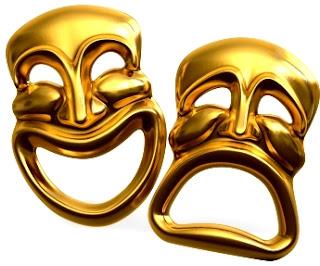 Caritas (cara feliz y cara triste) representativas del Teatro