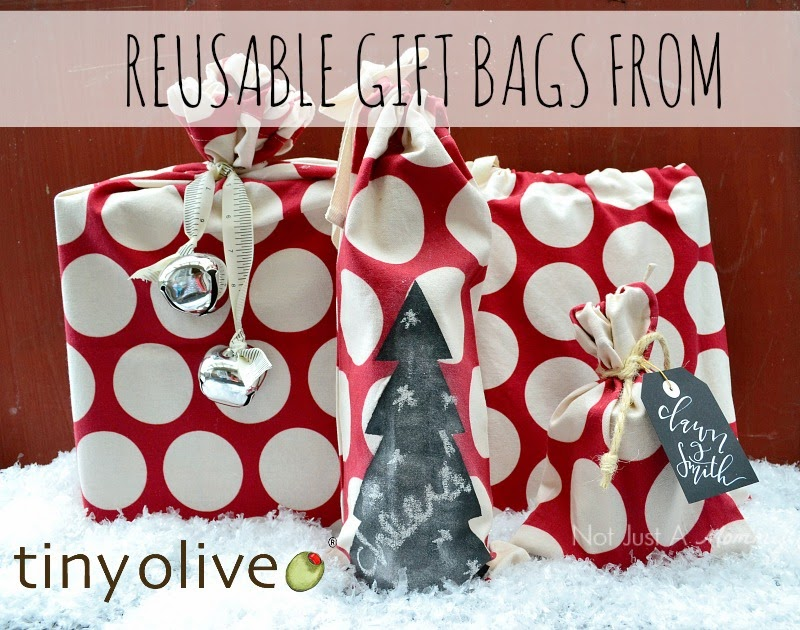 Tiny Olive reusable gift bags