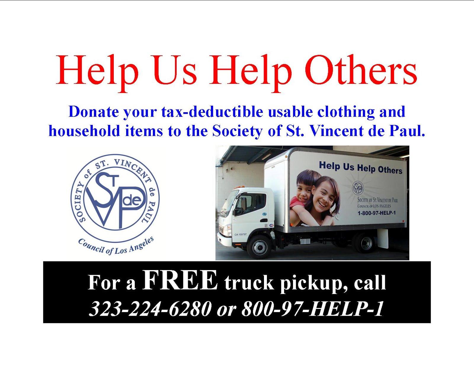 St Vincent de Paul of Los Angeles Please remember the Society