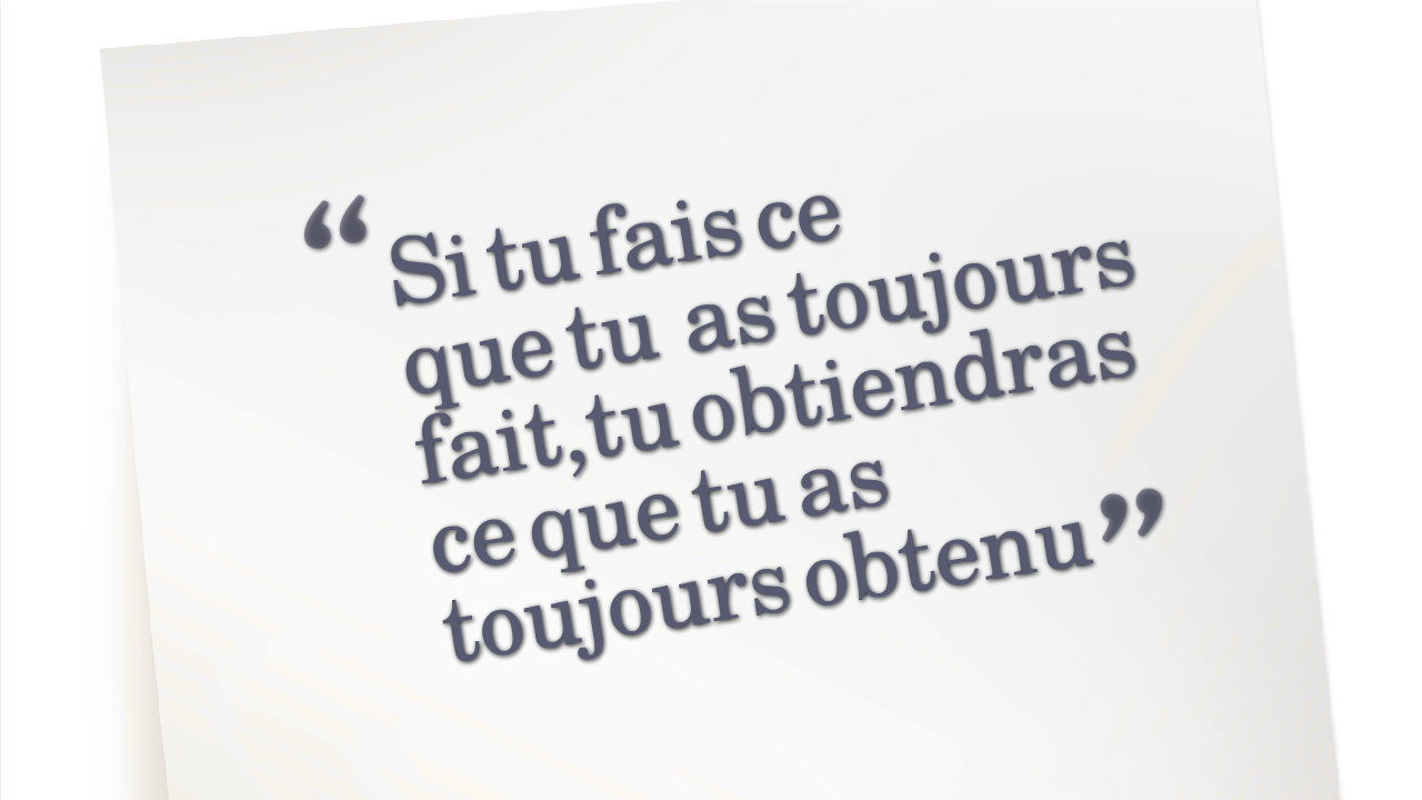 citation être positif