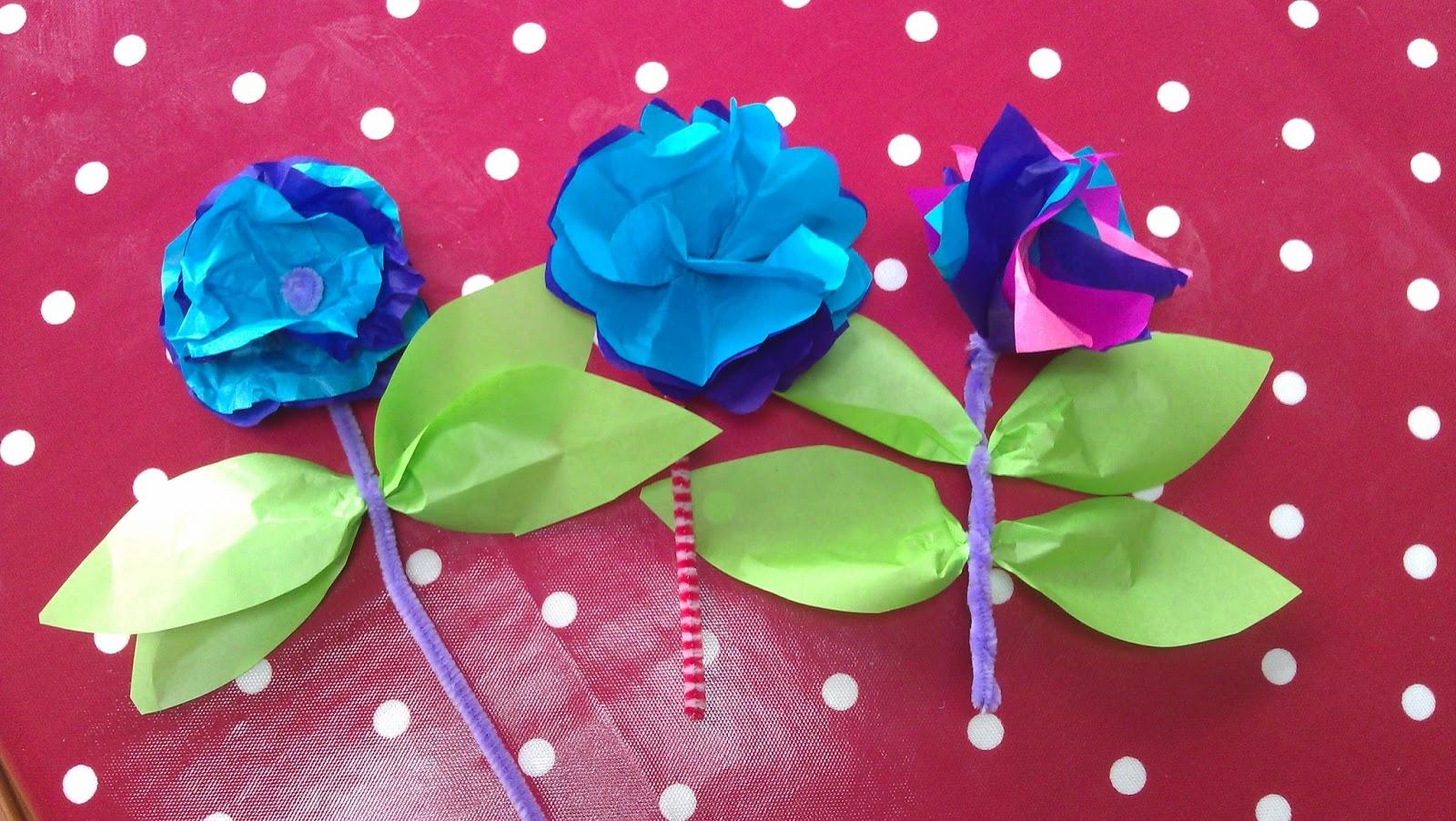 Hersham baptist church toddler resources tissue paper flowers tissue paper flowers mightylinksfo
