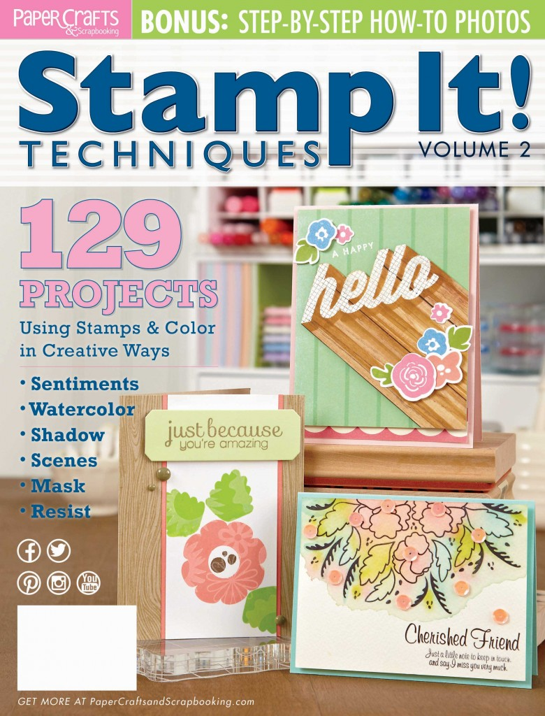 On the cover of Stamp it! Techniques Volume 2