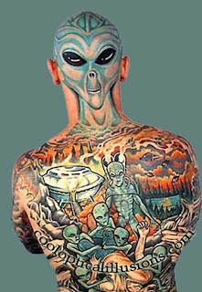 Extreme Tattoo Design - Alien tattoo