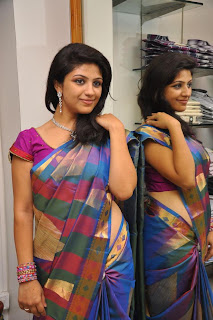 Supriya Spotted in a stunning Colorful Saree at a Shop Opening Event