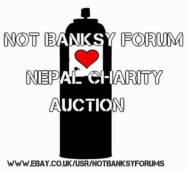 Another brilliant initiative in favor of Nepal is coming from the UK! The good guys and girls over at NotBanksyForum have put together an eBay auction in aid of the Disasters Emergency Committee to support the recent earthquake which happened in Nepal.