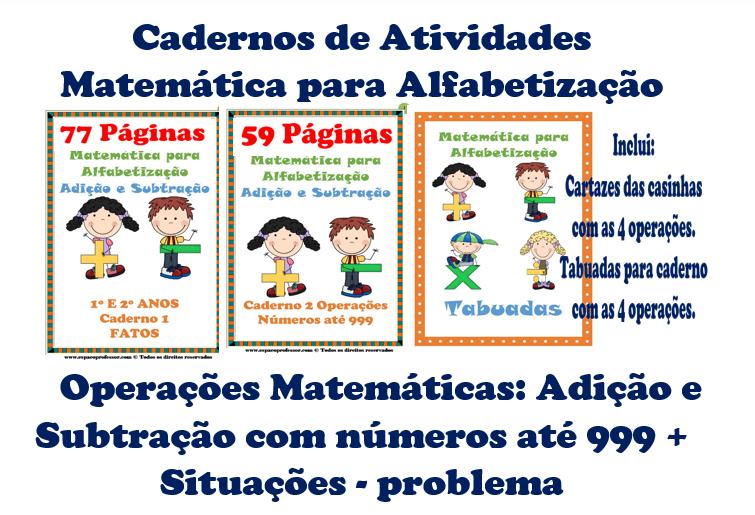 Matemática Operações Adição e Subtração