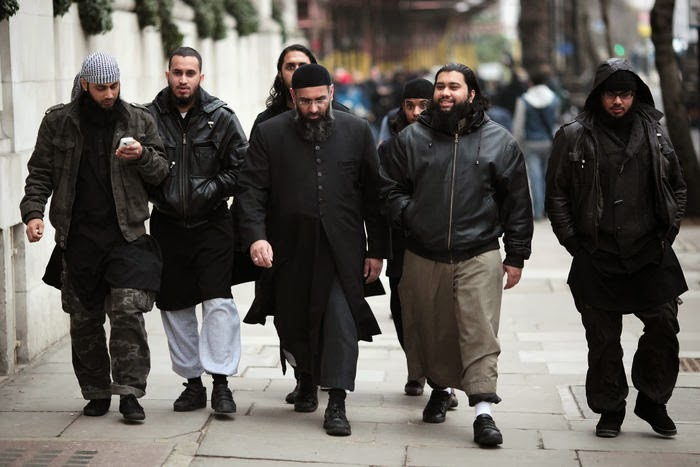 Muslim Patrol on streets of Muslim-controlled East London.