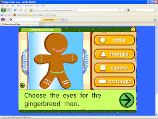 Starfall Gingerbread Man