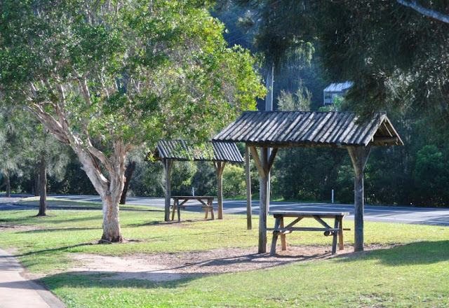 Picnic tables along Koolewong cycle/walking path