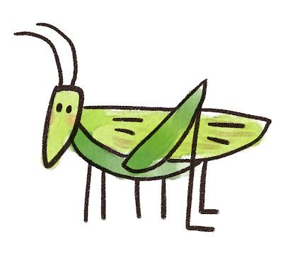 キリギリスのイラスト(虫)