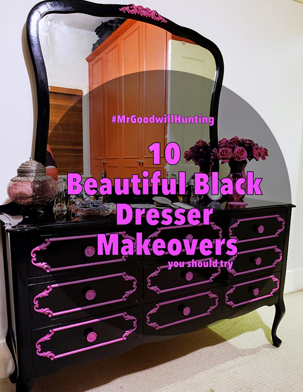 10 All Black Dresser Makeovers