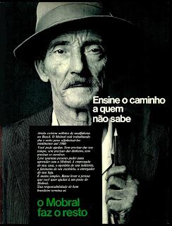 propaganda Mobral - 1973. 1973; os anos 70; propaganda na década de 70; Brazil in the 70s, história anos 70; Oswaldo Hernandez;