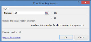 fungsi argumen rumus SQRT
