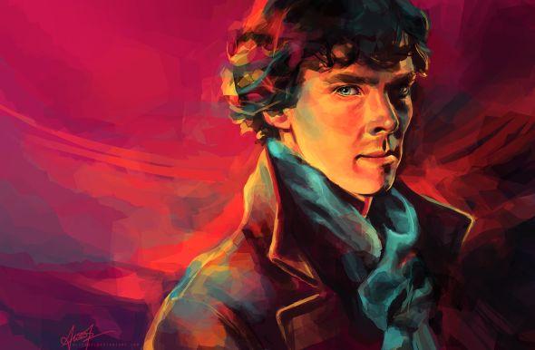 Alice X. Zhang alicexz deviantart pinturas de filmes séries A Study in Pink - Nome do primeiro episódio da série Sherlock da BBC