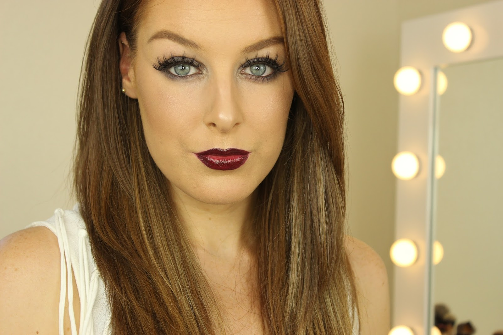 Cool Toned Eyes and Berry Lips