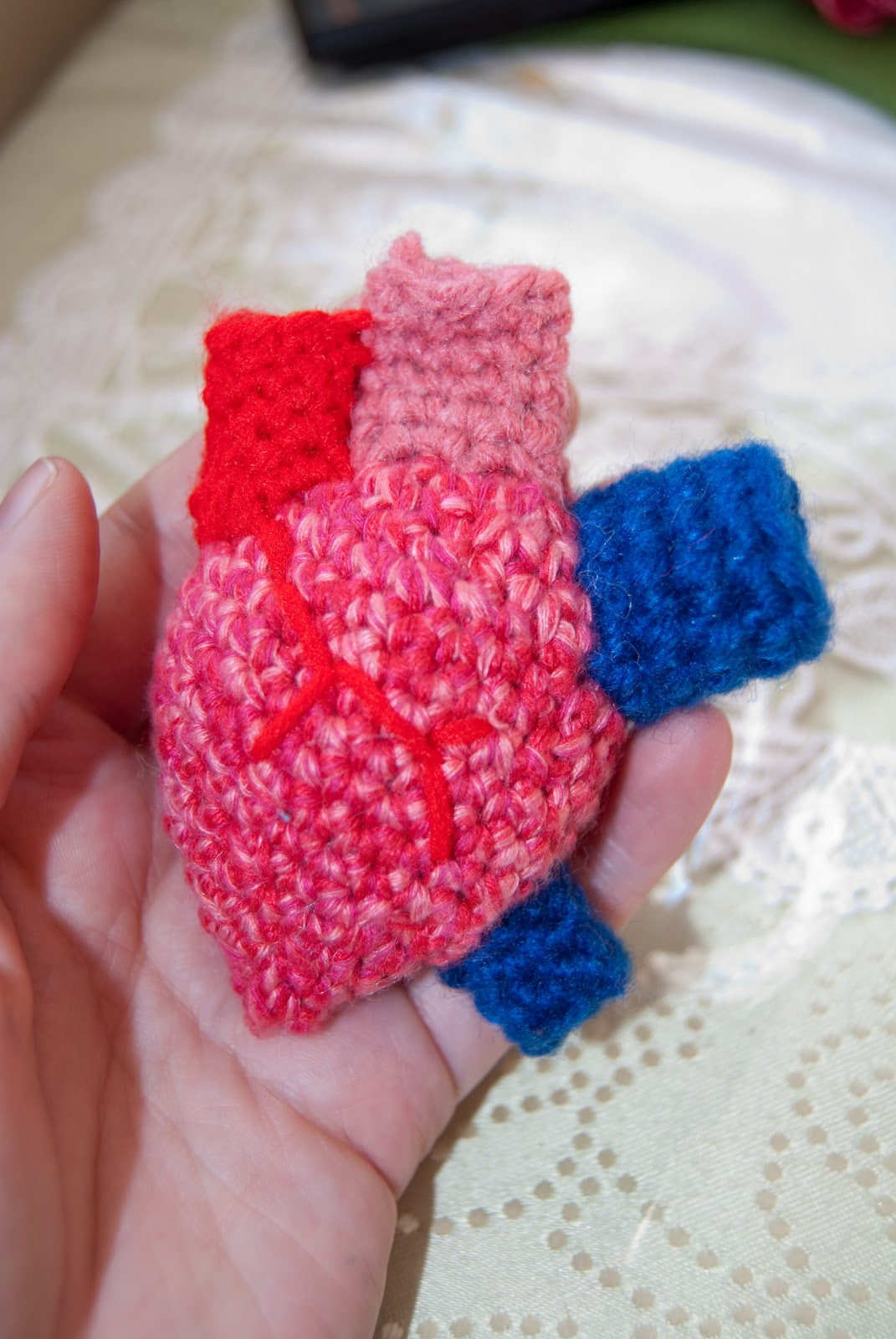 Less Than Three: Crochet Anatomical Heart (pattern with ...
