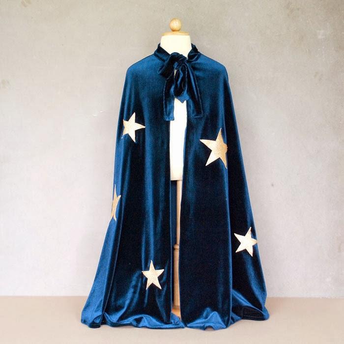 disfraz original capa de mago chico bonito