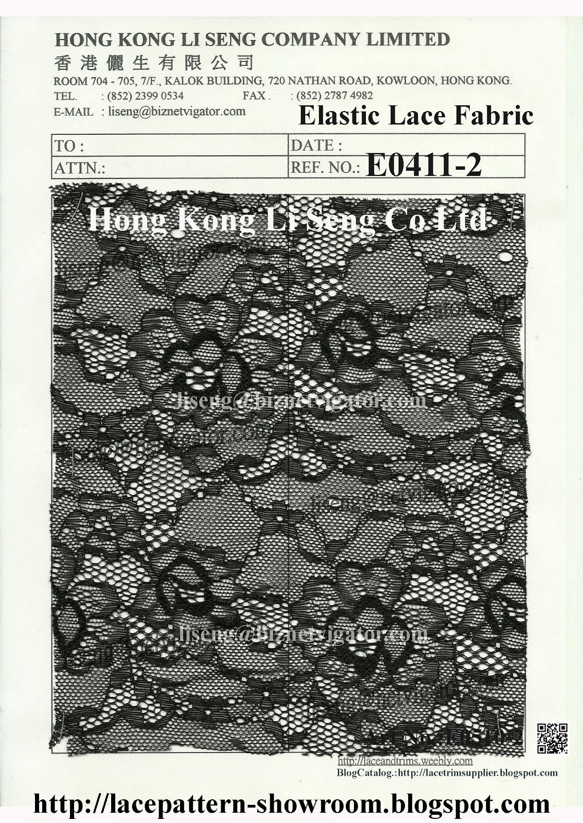 Elastic Lace Fabric Manufacturer - Hong Kong Li Seng Co Ltd