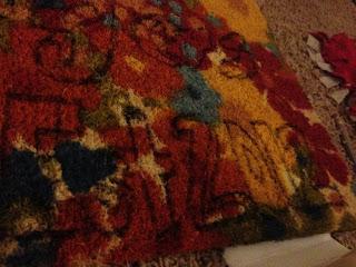 Writing on rug