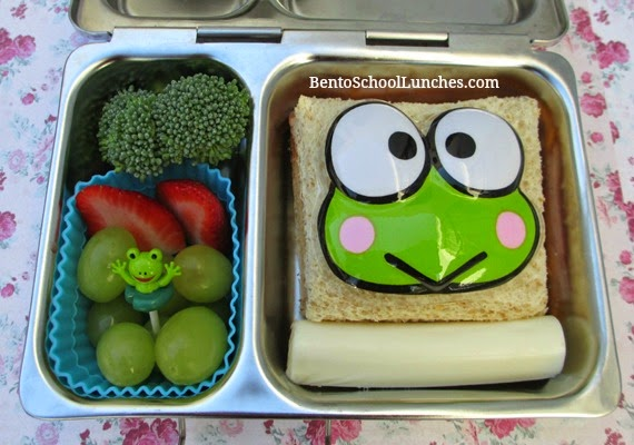Keroppi bento school lunch, planetbox shuttle